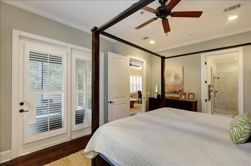 Master Bedroom open to screen porch