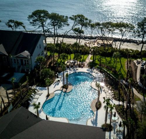 Aerial Oceanfront Pool