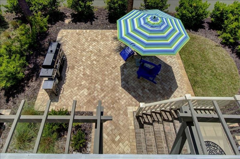 Balcony View of Paver Patio