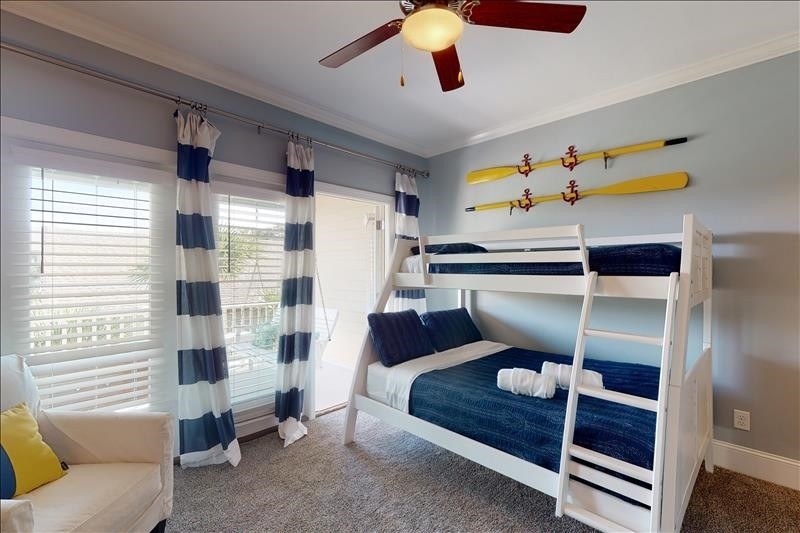 West Guest Room Twin over Double Bunk