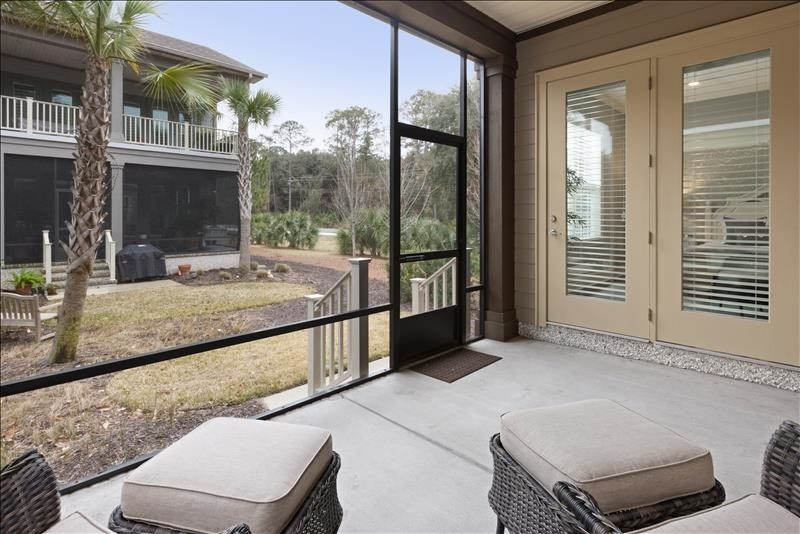 SCREENED LOWER PORCH