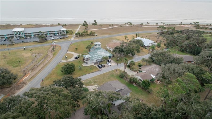 Club House Drone View to Beach