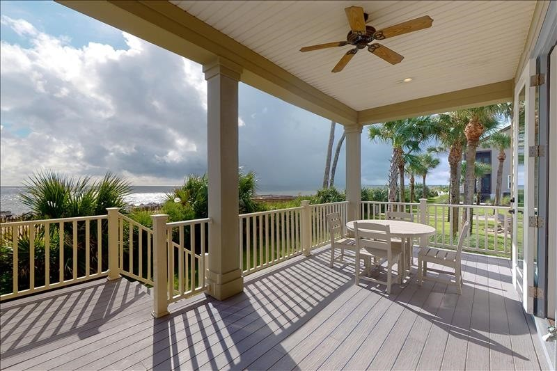Lower Porch Seating with  Panoramic Ocean View