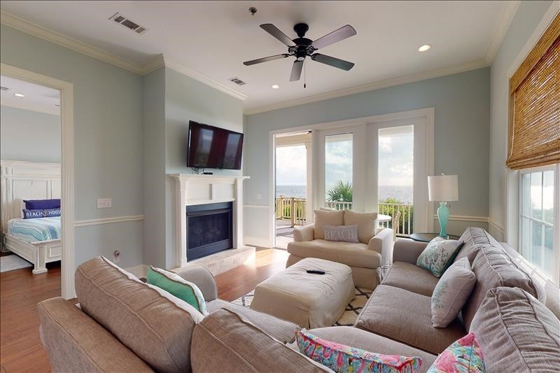 Liiving Area with Fireplace
