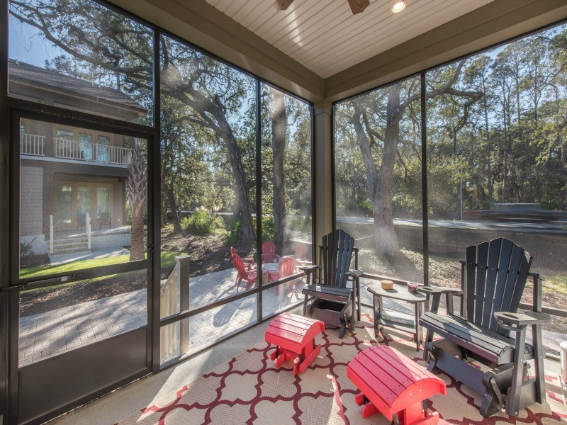 First Floor Screened-In Porch