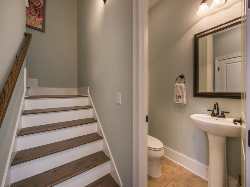 Stairs and Powder Room