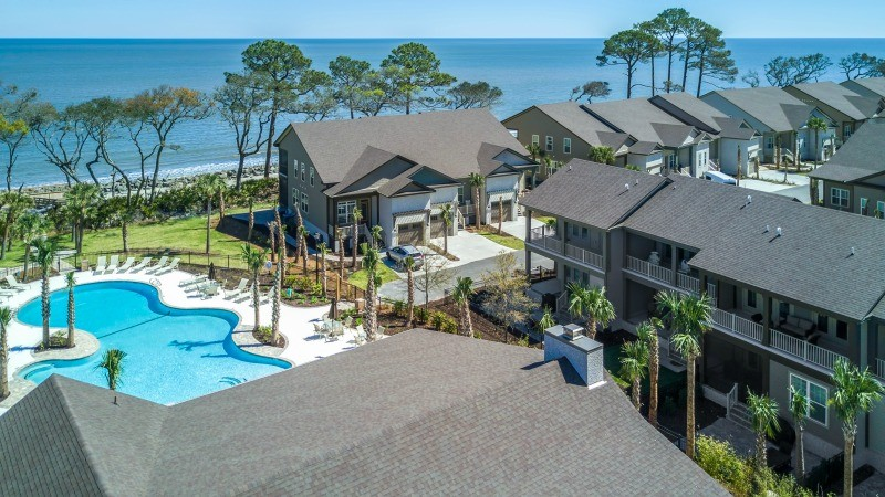 Arial View of Cottage 34 from Clubhouse