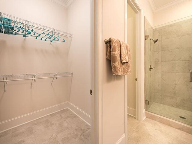 Closet in First Floor Master Bath
