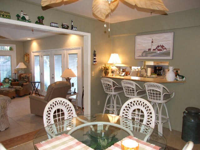 Dining to Sunroom & Breakfast bar